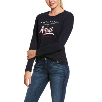 WOMENS SCRIPT LOGO LONG SLEEVE T-SHIRT