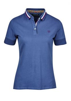 Bree Casual Stripe Collar Mid Sleeve Polo