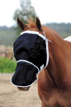 Buzz Away Fly Mask With Fleece And Nose