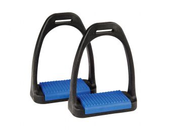 Polymer Stirrup Irons With Coloured Treads