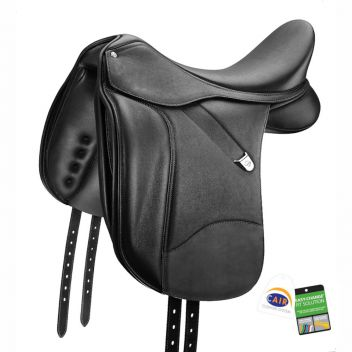 Dressage + Saddle With Luxe Leather Adjustable Bars & Cair III